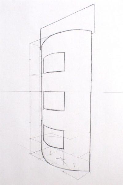 Perspektivisches Zeichnen eines Display