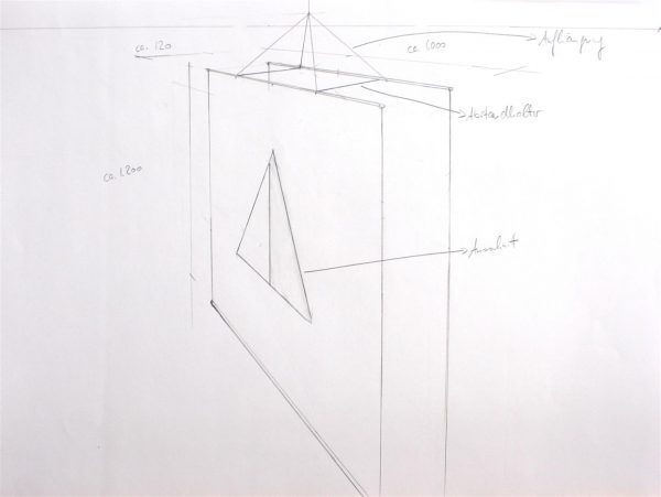 Standaufsteller in 3D zeichnen