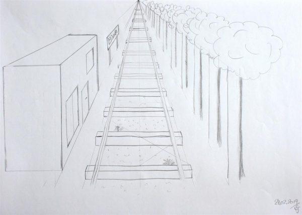Ein Punkt Perspektive