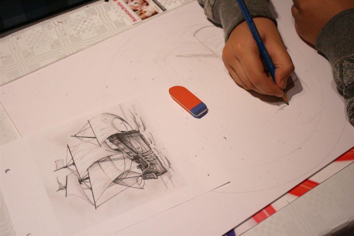 Kunstschule_buende_Uhrenprojekt_Vorskizze_Korel
