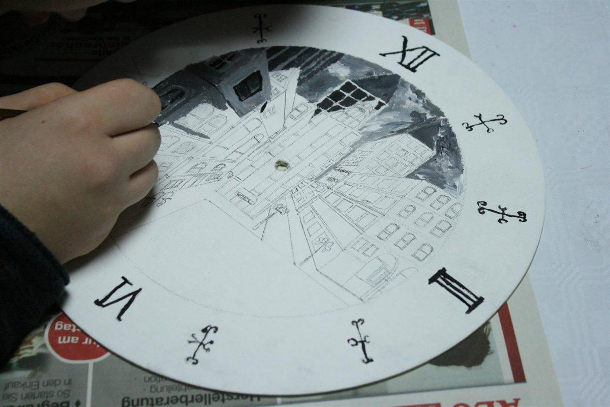 Kunstschule_buende_Uhrenprojekt_Vorskizze_Tim