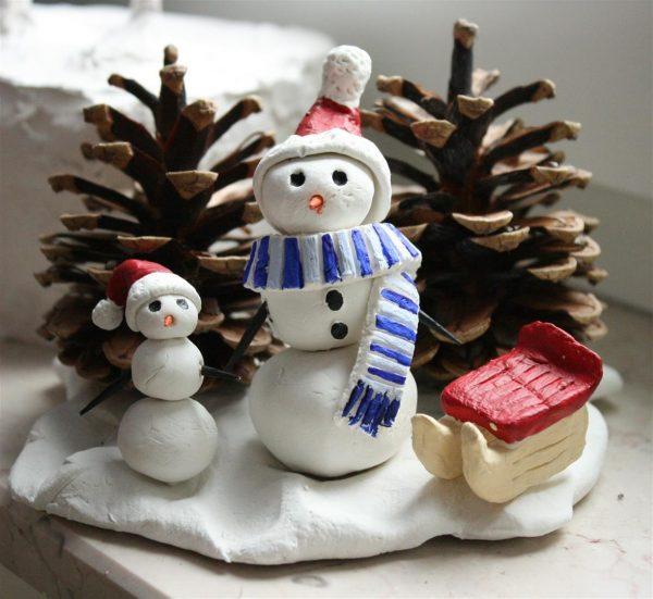 Schneemann aus Knete