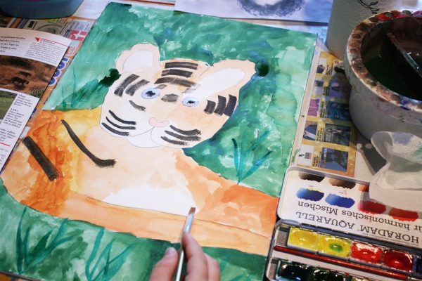 Ein Tiger in Aquarell