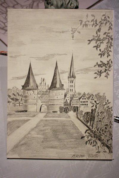 Zeichnung eines Urlaubsziels
